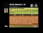 2007 Topps Update #187  Kevin Melillo  Back Thumbnail