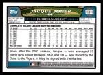 2008 Topps Update #121  Jacque Jones  Back Thumbnail