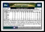2008 Topps Updates #50  Matt Garza  Back Thumbnail