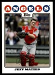 2008 Topps Update #8  Jeff Mathis  Front Thumbnail