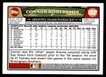 2008 Topps Update #37  Connor Robertson  Back Thumbnail