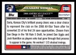 2008 Topps Updates #89   -  Joakim Soria All-Star Back Thumbnail