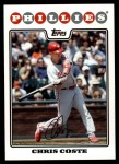2008 Topps Updates #93  Chris Coste  Front Thumbnail