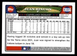 2008 Topps Update #156  Juan Rincon  Back Thumbnail