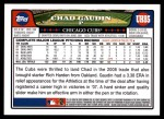 2008 Topps Update #85  Chad Gaudin  Back Thumbnail