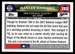 2008 Topps Update #35   -  Hanley Ramirez All-Star Back Thumbnail