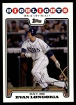 2008 Topps Updates #137   -  Evan Longoria  Highlights Front Thumbnail