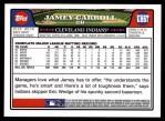 2008 Topps Updates #67  Jamey Carroll  Back Thumbnail