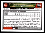 2008 Topps Updates #18  Andy Phillips  Back Thumbnail