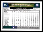 2008 Topps Updates #9  Shawn Riggans  Back Thumbnail