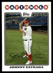 2008 Topps Updates #19  Johnny Estrada  Front Thumbnail