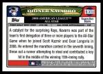 2008 Topps Updates #101   -  Dioner Navarro All-Star Back Thumbnail