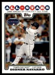 2008 Topps Updates #101   -  Dioner Navarro All-Star Front Thumbnail