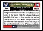 2008 Topps Updates #76   -  Francisco Rodriguez All-Star Back Thumbnail
