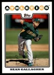 2008 Topps Update #97  Sean Gallagher  Front Thumbnail