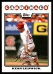 2008 Topps Update #49  Ryan Ludwick  Front Thumbnail
