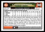 2008 Topps Update #199  Lance Cormier  Back Thumbnail