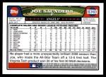2008 Topps Update #210  Joe Saunders  Back Thumbnail