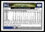 2008 Topps Updates #257  Casey Blake  Back Thumbnail