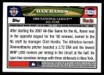 2008 Topps Updates #298   -  Dan Haren All-Star Back Thumbnail