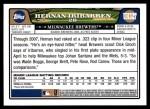 2008 Topps Updates #327  Hernan Iribarren  Back Thumbnail