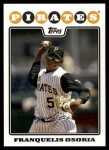 2008 Topps Update #204  Franquelis Osoria  Front Thumbnail