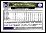2008 Topps Update #175  Luis Vizcaino  Back Thumbnail