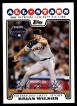 2008 Topps Updates #262   -  Brian Wilson All-Star Front Thumbnail