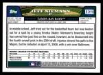 2008 Topps Updates #321  Jeff Niemann  Back Thumbnail