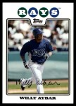 2008 Topps Updates #217  Willy Aybar  Front Thumbnail