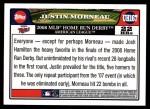 2008 Topps Updates #167  Justin Morneau  Back Thumbnail