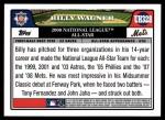 2008 Topps Updates #328   -  Billy Wagner All-Star Back Thumbnail