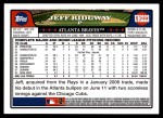 2008 Topps Updates #223  Jeff Ridgway  Back Thumbnail