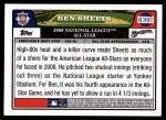 2008 Topps Updates #316   -  Ben Sheets All-Star Back Thumbnail