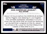 2009 Topps Update #128  Chone Figgins  Back Thumbnail