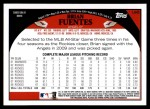2009 Topps Update #5  Brian Fuentes  Back Thumbnail