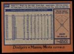 1978 Topps #228  Manny Mota  Back Thumbnail