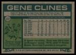 1977 Topps #237  Gene Clines  Back Thumbnail