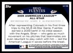 2009 Topps Update #196  Brian Fuentes  Back Thumbnail