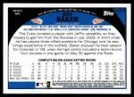 2009 Topps Update #313  Jeff Baker  Back Thumbnail