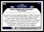 2009 Topps Update #325  Torii Hunter  Back Thumbnail