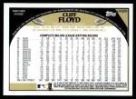 2009 Topps Update #269  Cliff Floyd  Back Thumbnail