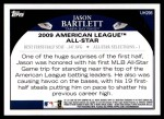 2009 Topps Update #298  Jason Bartlett  Back Thumbnail
