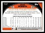 2009 Topps Update #202  Angel Berroa  Back Thumbnail