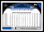 2009 Topps Update #234  Mike Sweeney  Back Thumbnail