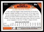 2009 Topps Update #324  Nolan Reimold  Back Thumbnail