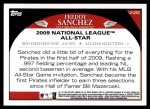 2009 Topps Update #283  Freddy Sanchez  Back Thumbnail