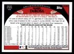 2009 Topps Update #280  Mark DeRosa  Back Thumbnail