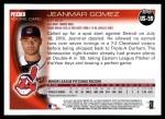 2010 Topps Update #59  Jeanmar Gomez  Back Thumbnail