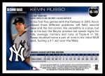 2010 Topps Update #149  Kevin Russo  Back Thumbnail